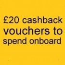 Buy a long break return ticket (more than 5 days) on their Dover to Calais route and they'll give you £20 cashback vouchers to spend onboard.