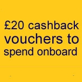 £20 cashback vouchers with P&O Ferries