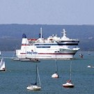 The Poole to Cherbourg ferry connection is operated by Brittany Ferries. It sails with both cars and foot passengers for morning crossings to France and return crossings to Poole in the evening.