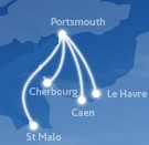 There are currently 6 ferries sailing from Portsmouth to France. Brittany ferries sail to Caen, Cherbourg, Le Havre and St Malo from Portsmouth. LD Lines opperate one daily ferry from Portsmouth to Le Havre in France and Condor Ferries have a weekly sailing from Portsmouth to Cherbourg.